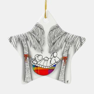 Hängemattenschildkröte Keramik Stern-Ornament