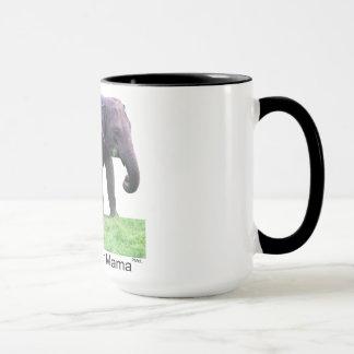 Hangin mit Mutter, Elefanten, schwärzen 15 Tasse