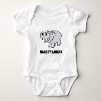 Hangry Flusspferd Baby Strampler