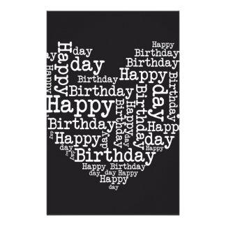 Happy birthday design individuelles druckpapier