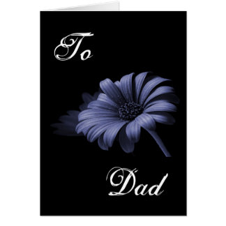 Happy Father's Day Purple Grey Daisy III Greeting Cards