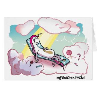 Happy Unicorn - Glückliches Einhorn Grußkarte