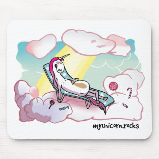 Happy Unicorn - Glückliches Einhorn Mousepad