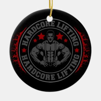 Hardcore, das Bodybuilder biegend anhebt Keramik Ornament