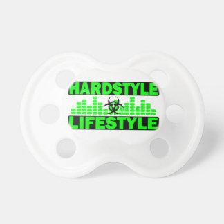 Hardstyle Lebensstil hazzard und Tempoentwurf Schnuller
