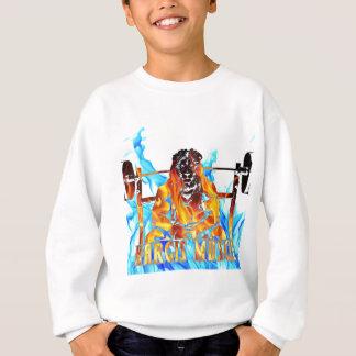 Hargis Muskel-Löwe im Feuer Sweatshirt