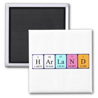 Harland Periodensystem-Namenmagnet Kühlschrankmagnete
