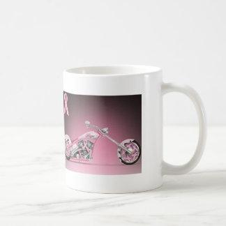 Harley Fahrrad-Rosa-Band-Brustkrebs Kaffeetasse