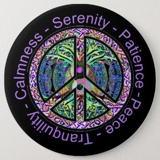 Harmonie, Balance, Einssein-Friedenssymbol Runder Button 15,3 Cm