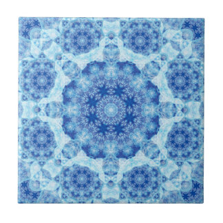 Harmonie der Eis-Mandala Kleine Quadratische Fliese