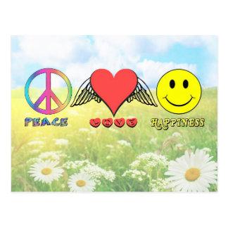 Harmonie - Ihnen Frieden, Liebe und Glück Postkarte