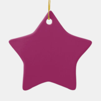 Harmonisch optimistische magentarote rosa Farbe Keramik Ornament