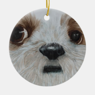 Harry der Shih Tzu Keramik Ornament