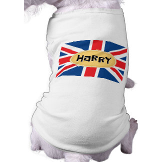 HARRY-Monogramm Ärmelfreies Hunde-Shirt