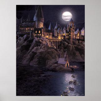 Harry Potter-Castle | großer See zu Hogwarts Poster