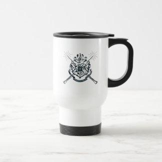 Harry Potter | Hogwarts gekreuztes Wands-Wappen Edelstahl Thermotasse