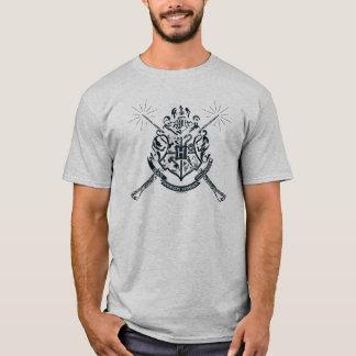 Harry Potter | Hogwarts gekreuztes Wands-Wappen T-Shirt