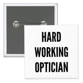 Harter Arbeitsoptiker Quadratischer Button 5,1 Cm