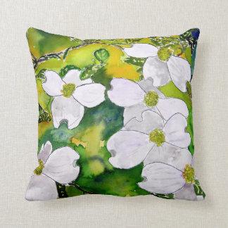 Hartriegelbaum-Blumen-Blumenkissen Kissen