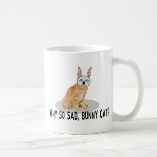 Häschen-Katze traurig Tasse