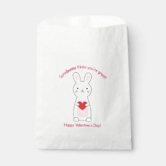 Häschen-Valentinsgruß-Bevorzugungs-Taschen Geschenktütchen