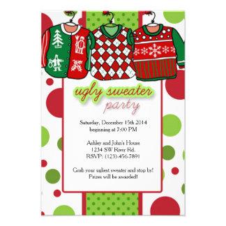 Hässliches Weihnachtsstrickjacke-Party 8,9 X 12,7 Einladungskarte