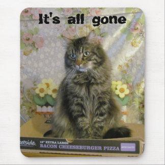 Hat traurig keine Pizza-Katze Meme Mousepad