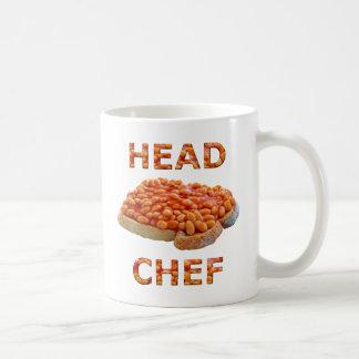 HauptKochs-Bohnen auf Toast-Kaffee-Tasse Tasse