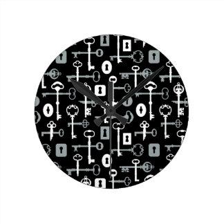 Hauptschlüssel-Muster Runde Wanduhr