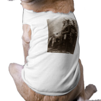 Hauptsitting Bull - Vintag Ärmelfreies Hunde-Shirt