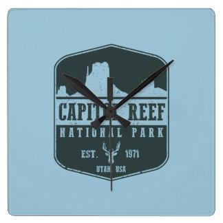 Hauptstadts-Riff-Nationalpark Quadratische Wanduhr