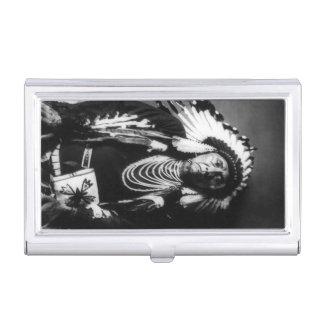 HauptVintager Nez Perce gebürtiger Amerikaner Visitenkarten Etui