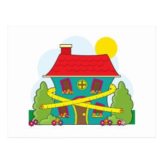 Haus auf Diät Postkarte