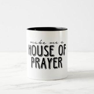 Haus der Gebets-Tasse Zweifarbige Tasse