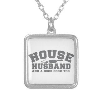 Haus-Ehemann und ein guter Koch auch Halskette Mit Quadratischem Anhänger