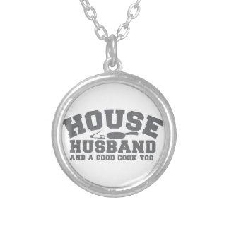 Haus-Ehemann und ein guter Koch auch Halskette Mit Rundem Anhänger