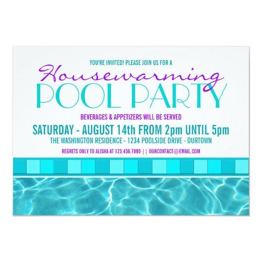 Haus-Erwärmungs-Pool-Party Einladungen   Zazzle.at