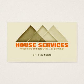 Haus-Gebäudewartung wirkliches Anwesen-Agent moder Visitenkarte