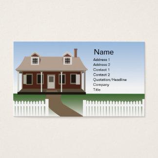 Haus - Geschäft Visitenkarten