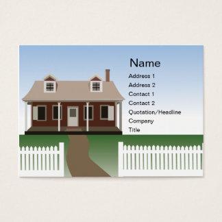 Haus - mollig Jumbo-Visitenkarten