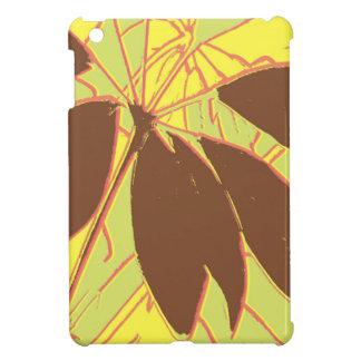 Haus-Pflanzen-gelbes Grün-Rot iPad Mini Hülle