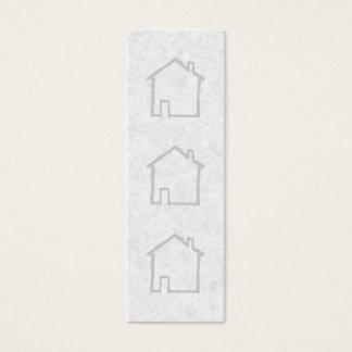 Haus-Skizze. Grau Mini Visitenkarte