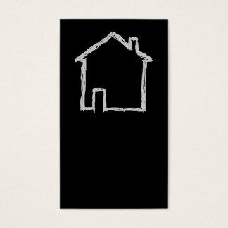 Haus-Skizze. Grau und Schwarzes Visitenkarten