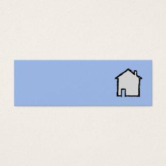 Haus-Skizze. Schwarzes und Blau Mini Visitenkarte