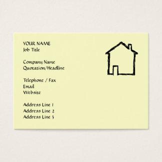 Haus-Skizze. Schwarzes und Creme Visitenkarte