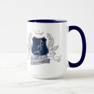 Haus von Tasse Blau des silbernen Graus des