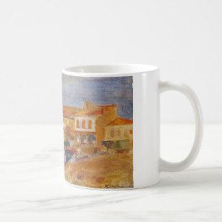 Häuser durch das Meer durch Pierre-Auguste Renoir Tasse