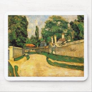 Häuser entlang einer Straße durch Paul Cezanne Mauspads