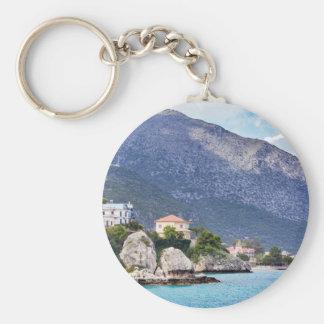 Hausfelsen und -berg in griechischem Meer Schlüsselanhänger