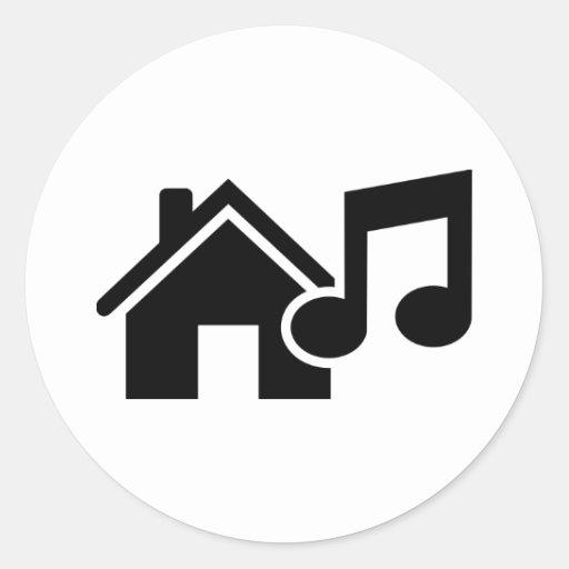 Hausmusikanmerkung Runder Sticker